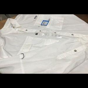 Men's Columbia Sportswear Bonehead white shirt.